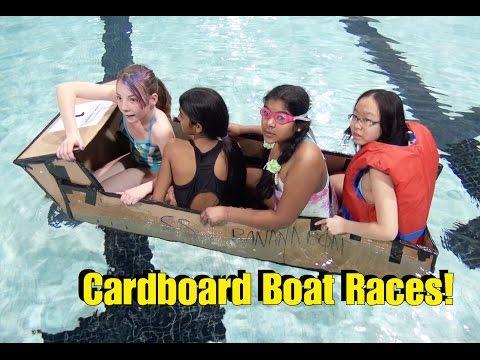 💦 The Ultimate Cardboard Boat Race & Competition! 💦