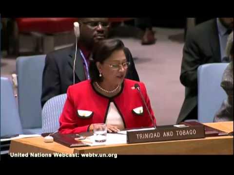 Prime Minister Kamla address UN Security Council