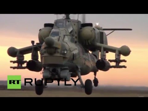 Russia: Combat helicopters flaunt their firepower in Krasnodar drills