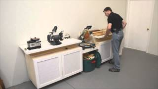 Space-saving Miter Station