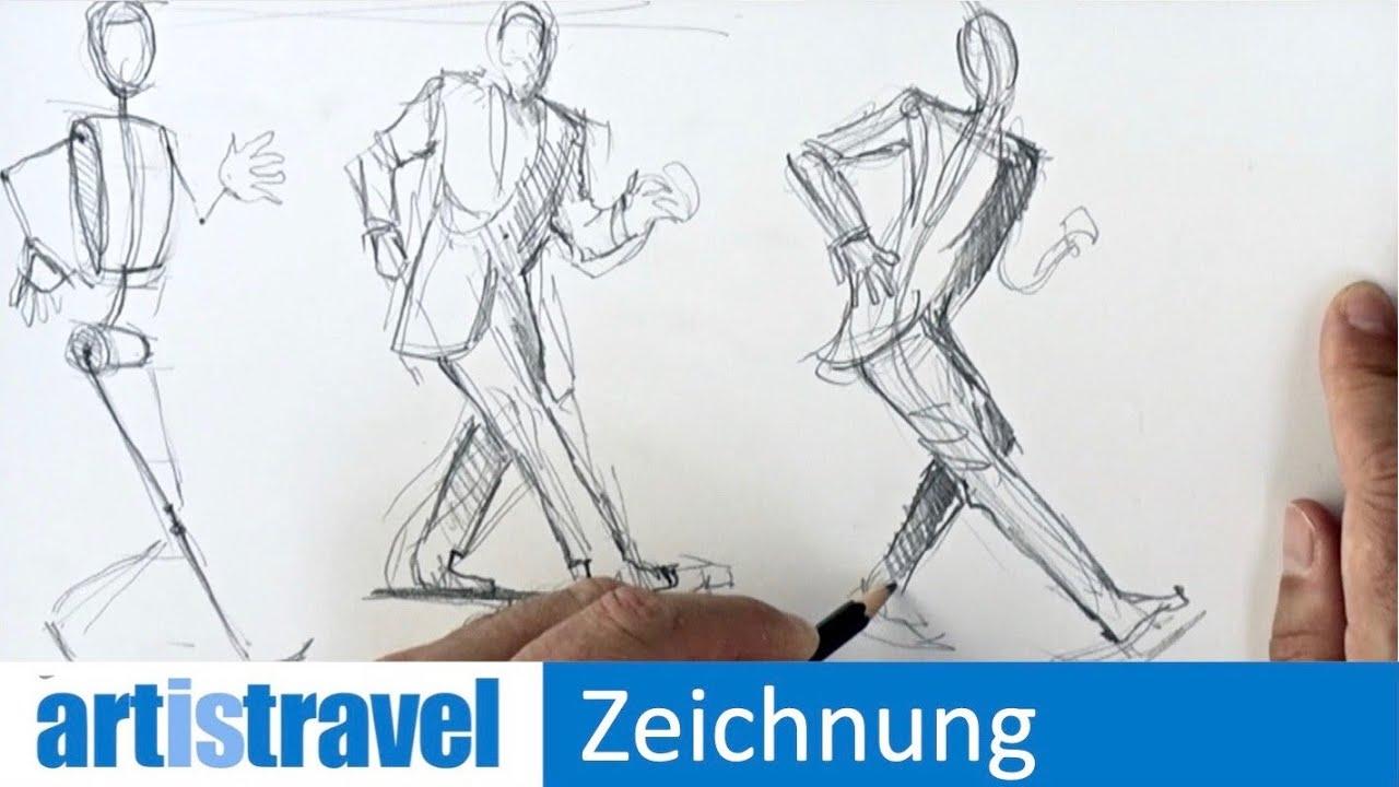 Menschen Zeichnen Vorlagen : menschen zeichnen in bewegung ganz einfach zeichnen lernen youtube ~ Yuntae.com Dekorationen Ideen