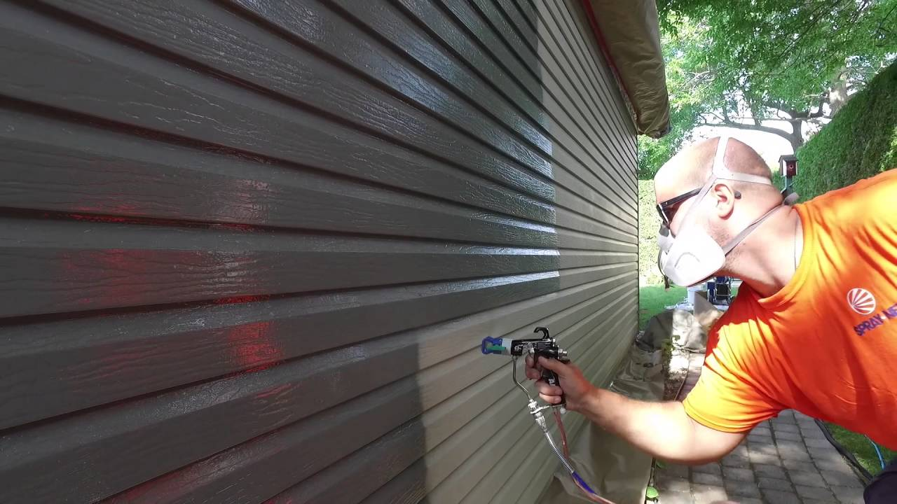 Exterior Spray Painting On Aluminum Siding