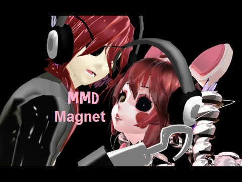 mmd five nights at freddys 2 foxy x mangle magnet