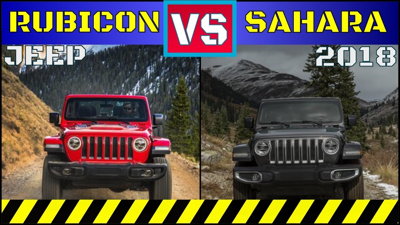 ALL New 2018 Jeep Wrangler | Rubicon VS Sahara | - YouTube