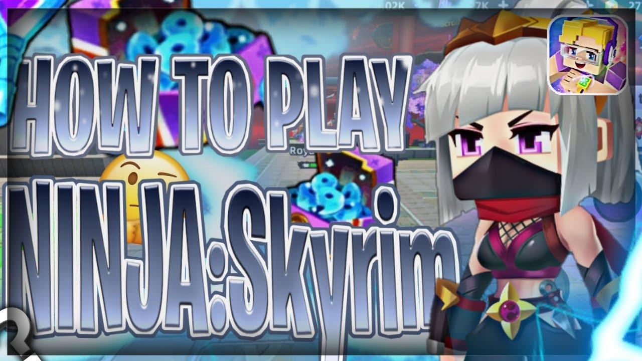 How to play Ninja:Skyrim😃?!(Blockman Go: Blocky Mods)