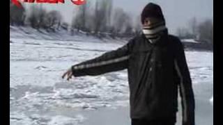 Erzincan Fırat Nehri tamamen Buz Tutdu