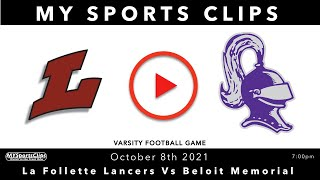 #LaFolletteLancers Vs #BeloitMemorial #VarsityFootball