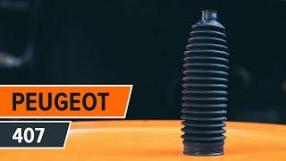 Como substituir Jogo de maxilas de travão de estacionamento PEUGEOT 407 (6D_) - vídeo guia