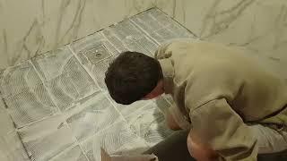 미끄럼방지 욕실바닥시트 시공방법2(DIY 욕실리모델링)…