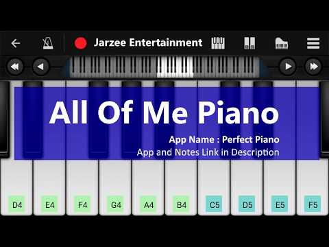 John Legend - All Of Me Piano Tutorial | Easy Mobile Perfect Piano Tutorial With Notes