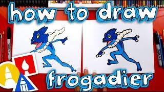 How To Draw Frogadier Pokemon