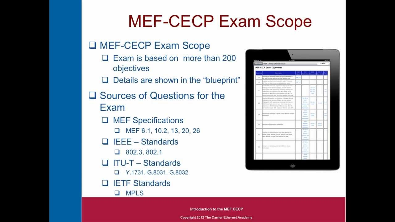 The carrier ethernet academys mef cecp documentary part 24 youtube malvernweather Choice Image