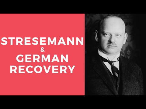 Stresemann and German Recovery