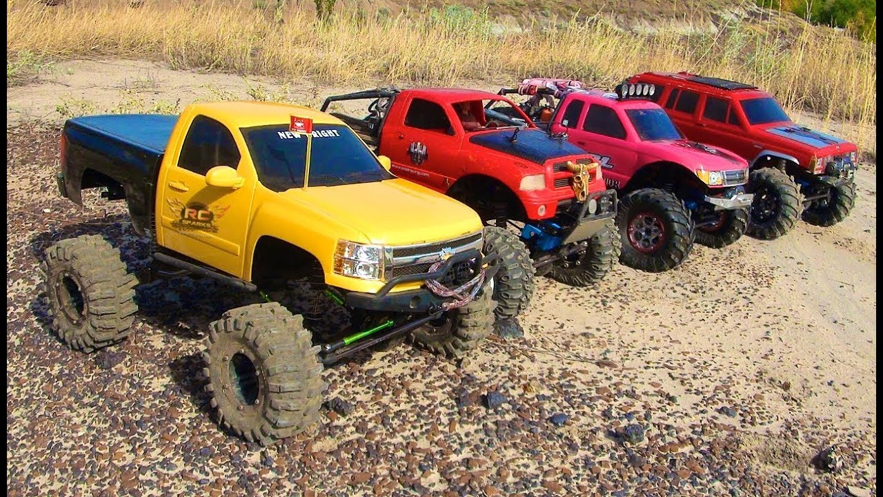 rc adventures 4 scale rc 4x4 trucks in action on ma doovi. Black Bedroom Furniture Sets. Home Design Ideas