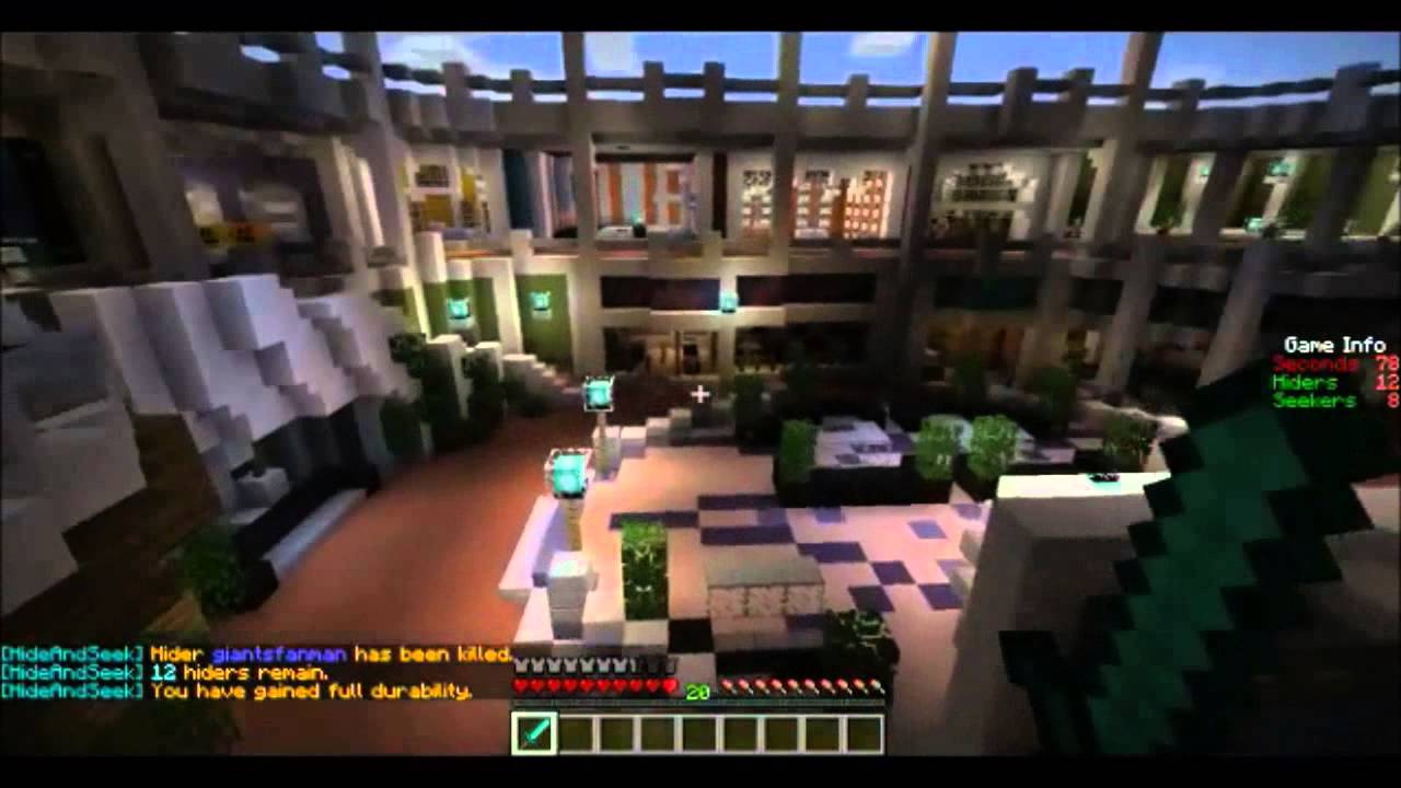 Minecraft Server: Hide #39 n #39 Seek and other fun stuff YouTube