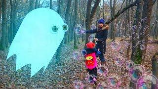Видео для детей, Приведение ловит мыльные пузыри (9 серия на KidsFM) новый детский канал привидения