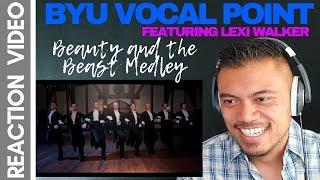 BYU VOCAL POINT & LEXI WALKER singing BEAUTY and the BEAST MEDLEY   Bruddah Sam's REACTION vids