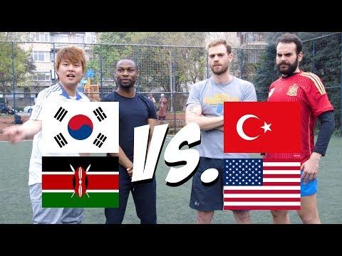 HANGİ MİLLET DAHA İYİ FUTBOL OYNADI? (HALI SAHA MAÇI) | 3 Yabancı 1 Türk #8