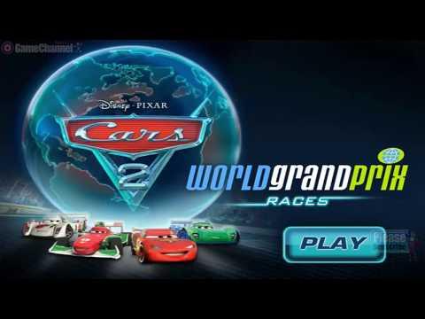 Cars 2 World Grand Prix Race Games / Children / Disney Flash Games / Gameplay Video - 동영상