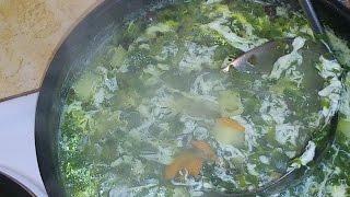 ВКУСНО И ПРОСТО! Суп с шпинатом и яйцом