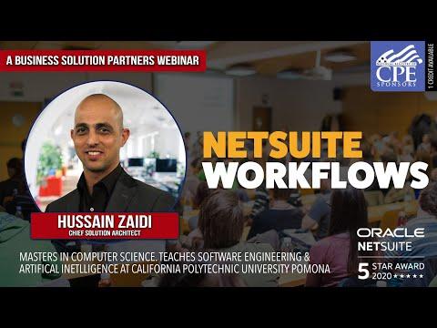 NetSuite Masterclass - Workflows