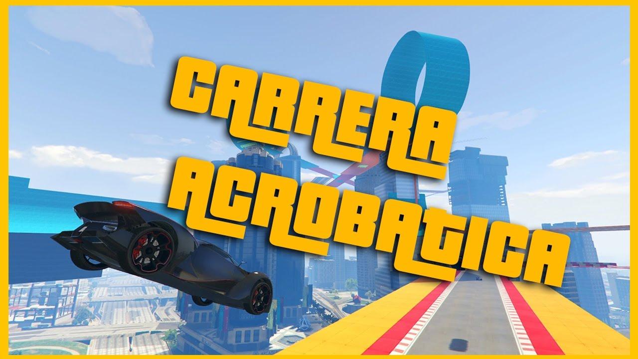 GTAV Gameplay en español???? - Carreras acrobáticas???? ????2017