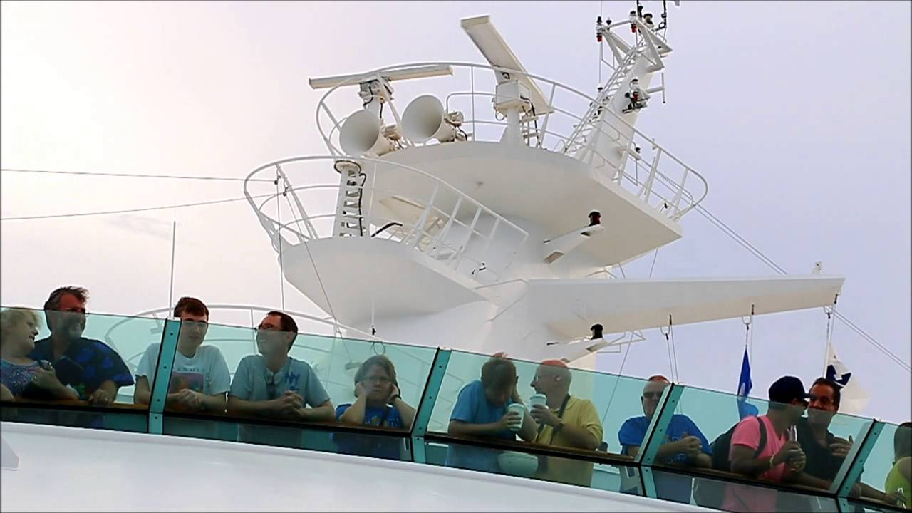 Surprise! Don't Stand Under A Cruise Ship's Horn At Sailaway!