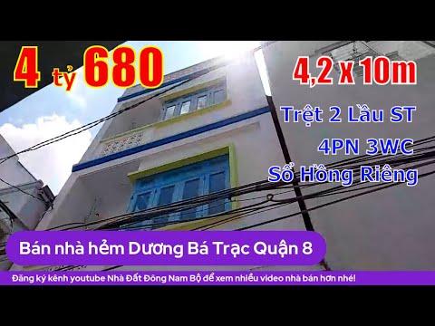 Chính chủ Bán nhà Quận 8 Dương Bá Trạc, gần trường Rạch Ông