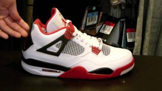 Air Jordan IV Retro White/Varsity Red-Black Review at Exit 36
