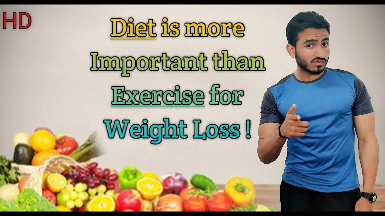 Diet is more Important than Exercise for Weight Loss! [Hindi] #1