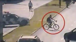 Motoqueiro derruba ladrão e ajuda polícia