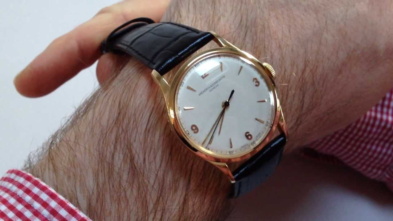 Vacheron Constantin Vintage Wristwatch Circa 1948 Youtube