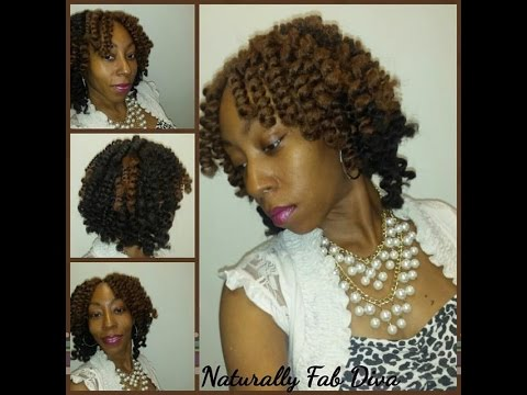Crochet Braids Cuban Twist : Crochet Braids with Cuban Twist Marley Hair by Fretress - YouTube