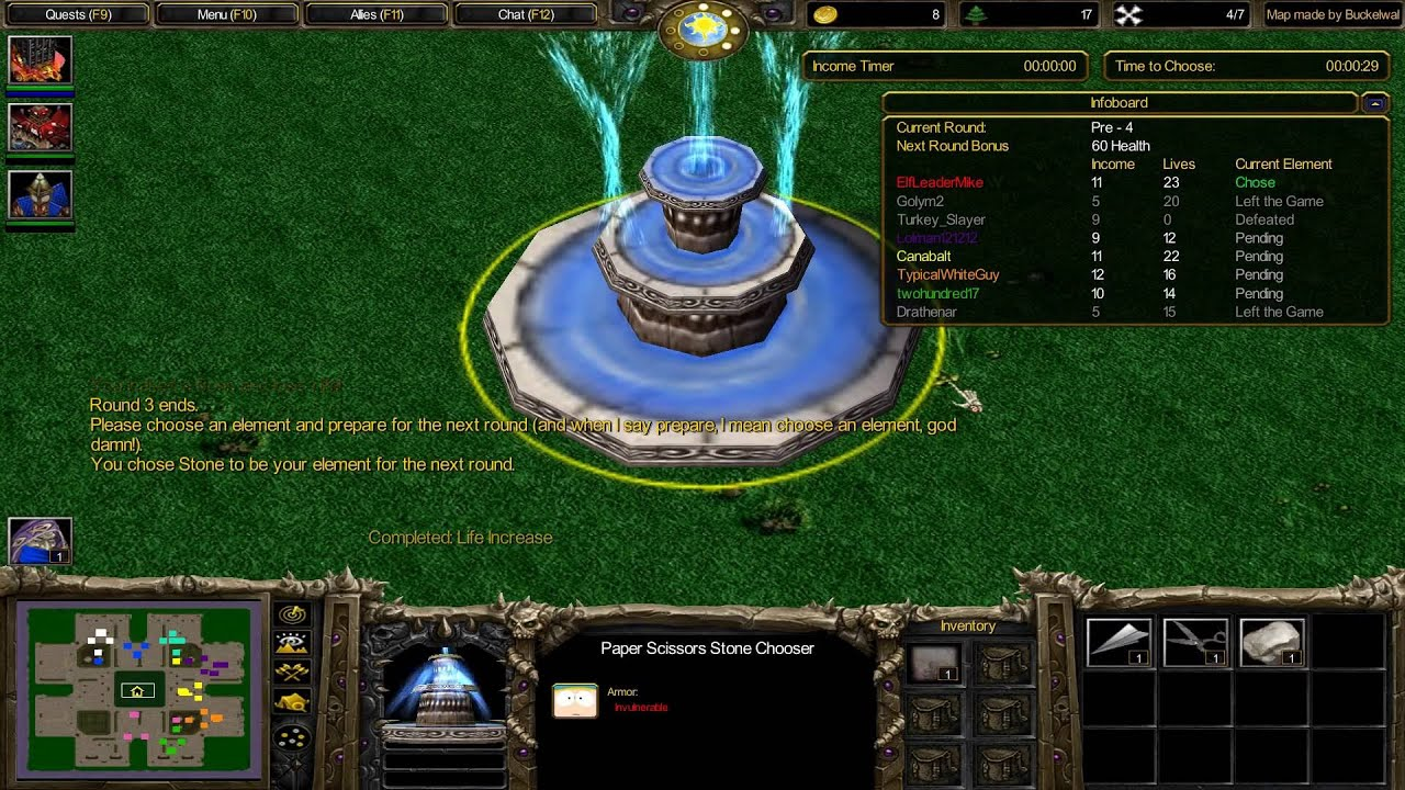 Warcraft 3 TFT - Stone Scissors Paper Tower Wars #1 - Vidya Only