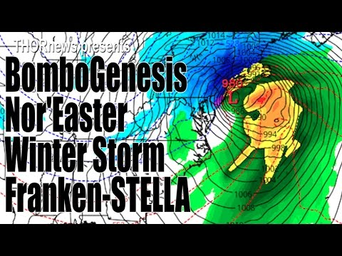 Bombogenesis Nor'Easter Winter Storm Franken - STELLA to bomb out East Coast