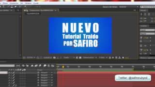 Adobe After Effects CS6 Tutorial Crear una intro TipoAnimada (Camara 3D, TEXTOS, MOVIMIENTOS)