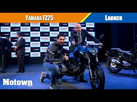 Launch of Yamaha FZ 25 in New Delhi