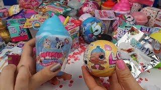 LOL Confetti pop 2.Dalga Lil Sister vs Smooshies Squishy Challenge Altın Topu kim buldu? Oyuncak