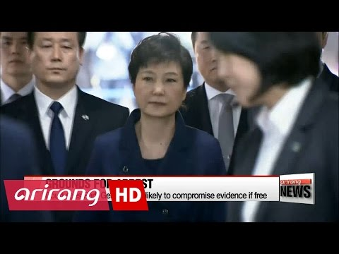 Court sees Park Geun-hye as likely to compromise evidence if free