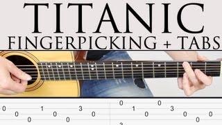 Repeat youtube video Como tocar Titanic en guitarra facil tutorial punteo Fingerpicking y TAB Fácil ! paso a paso!