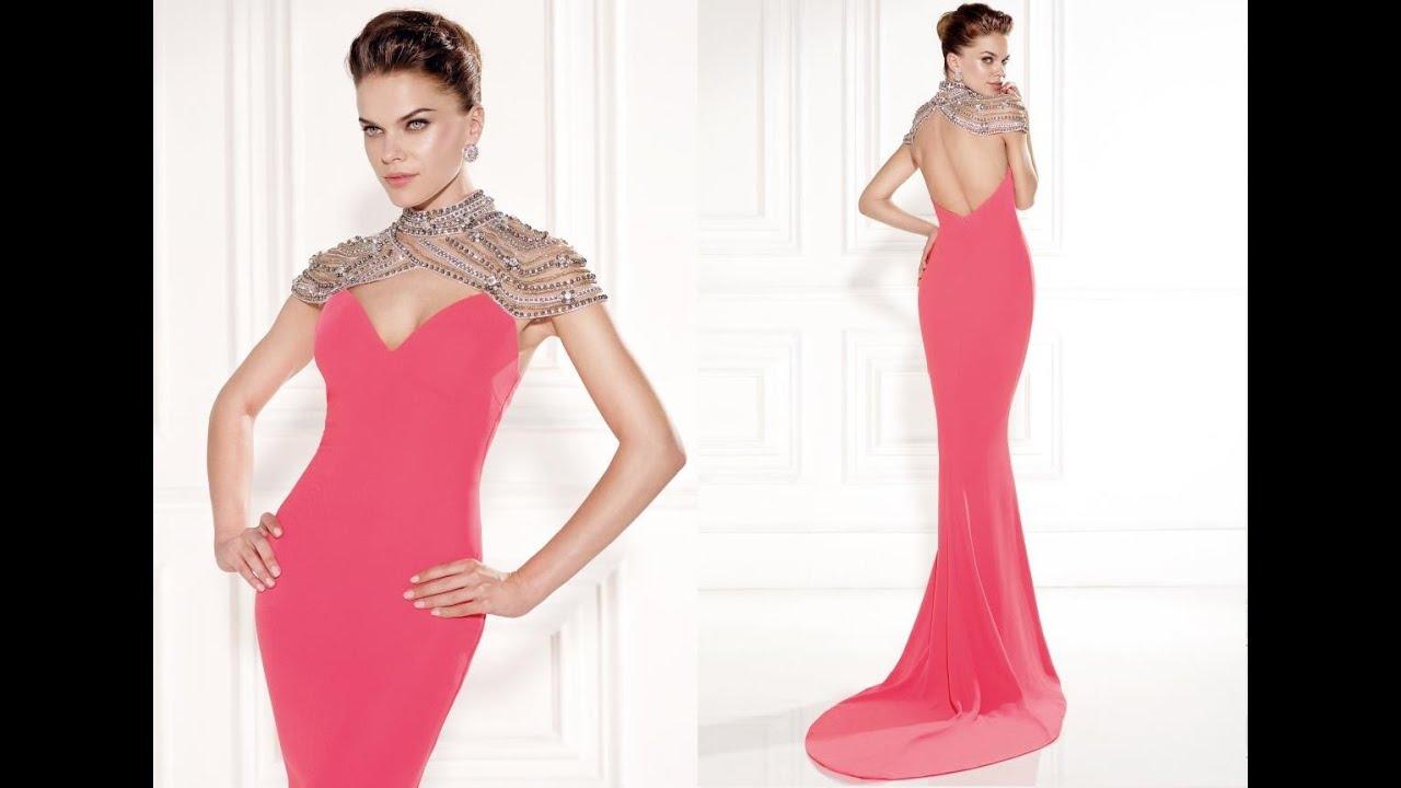 Tarik Ediz Prom Dress 92458 - YouTube