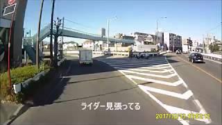 ドラレコ映像 第三京浜玉川インター白バイ待機 thumbnail