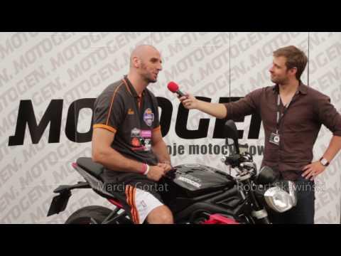 Marcin Gortat na motocyklu - polski koszykarz w NBA jako motocyklista