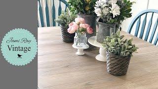 How To Do A Barn Wood Finish On Table Top Veneer | Farmhouse Table