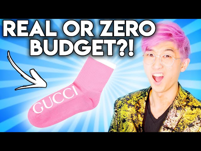Can You Guess The REAL vs ZERO BUDGET Designer Product!? (Gucci vs. Thrift Shop)