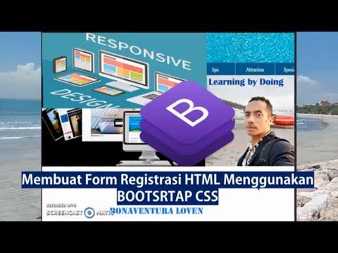 Cara Membuat Form Registrasi HTML Dengan Bootstrap CSS - Membuat Formulir Html Registrasi Bootstrap