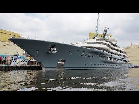 4K | Boat Tour #1 - Yacht Project SHU - Lürssen shipyard
