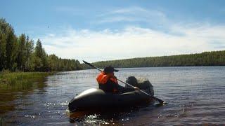 Рыбалка с ночёвкой на ФишПакрафте на озере Кедрозеро!!!