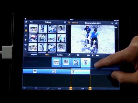 05 Avid studio iPad Diaschau erstellen  Fotos auf Storyboard und Timeline
