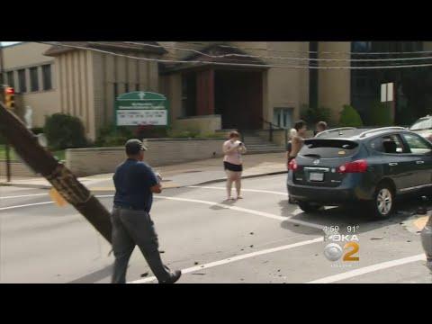 SUV Slams Into Pole In Canonsburg
